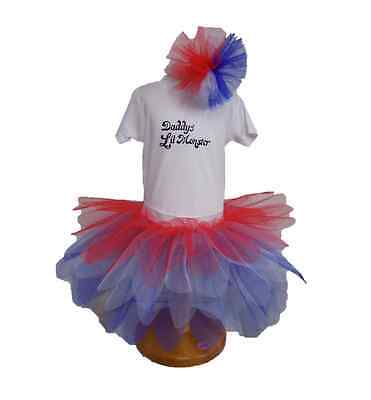 BABY GIRL DADDY'S LIL MONSTER QUINN FANCY DRESS TUTU T-SHIRT VEST HALLOWEEN  - Daddy Daughter Halloween Costumes