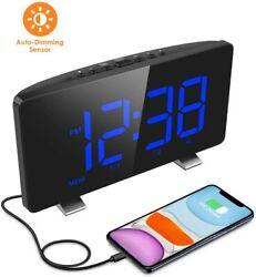 Digital Alarm Clock, ELEGIANT Alarm Clocks for Bedrooms with FM Radio, Dual Alar