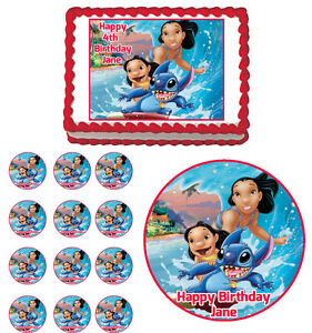 Lilo And Stitch Edible Cake Toppers