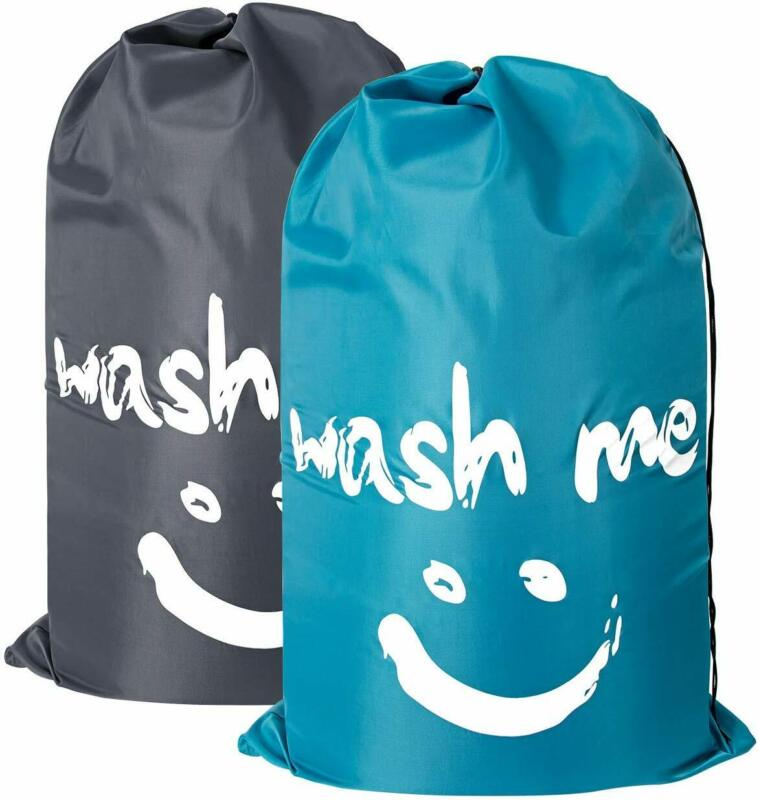 ZERO JET LAG 2 Pack Extra Large Travel Laundry Bag Set Nylon