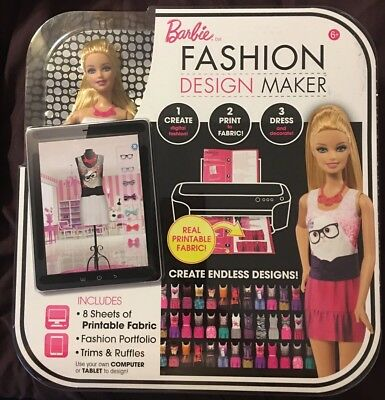 Barbie Fashion Design Maker, NRFB Print Clothes That Are Cloth With A Printer