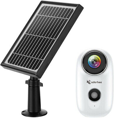 WiFi Outdoor Security Camera Wireless 1080P Solar  with Rechargeable Battery