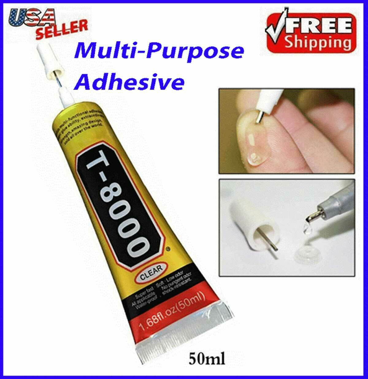 GLUE Clear Adhesive T-8000 Craft Nails 50ml Phone Jewelry Mu