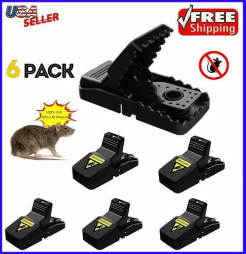 6pcs Mouse Traps Mice Killer Snap Bait Trap Rodent Heavy Duty Catcher Reusable