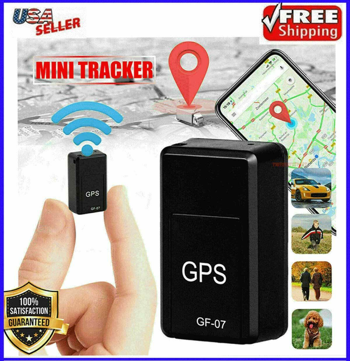 Mini Magnetic GPS Tracker Car Truck Vehicle Locator Real-time GSM GPRS GF07 USA Consumer Electronics