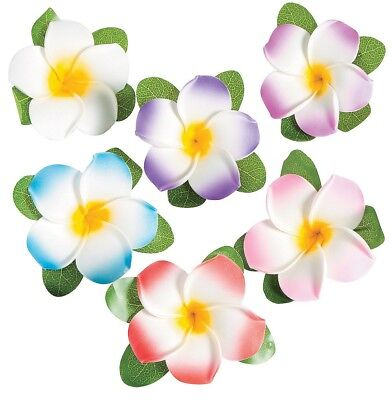 Hawaiian Plumeria Flower Hair Clips (12 PACK) 3 1/2