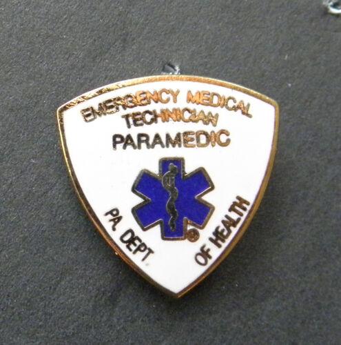 "Emergency Medical Technician Paramedic PA Dept Health Lapel Pin Badge 3/4 "" EMT"