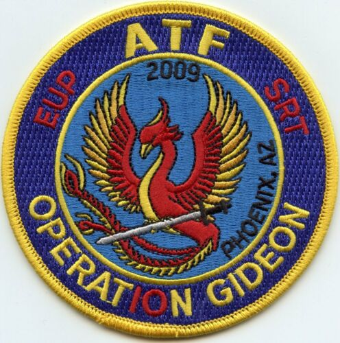ATF PHOENIX ARIZONA OPERATION GIDEON colorful POLICE PATCH