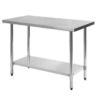 Stainless Steel Table Work Surface Kitchen Island Prep Station Shelf Counter Top