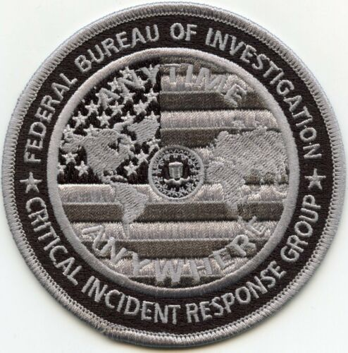 FBI CRITICAL INCIDENT RESPONSE GROUP subdued gray POLICE PATCH