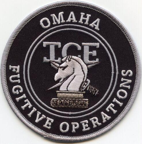 OMAHA NEBRASKA NE ICE FUGITIVE OPERATIONS subdued gray POLICE PATCH