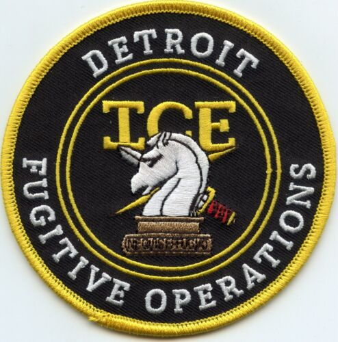 DETROIT MICHIGAN MI ICE FUGITIVE OPERATIONS colorful POLICE PATCH