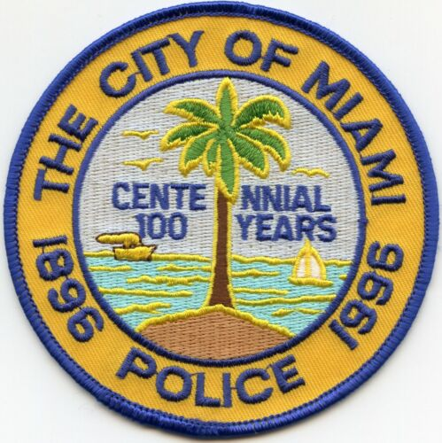 MIAMI FLORIDA FL 100 Years Centennial POLICE PATCH