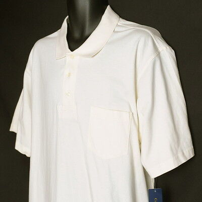 NWT Club Room Mens Polo Shirt XL Organic Cotton S/S Natural Ivory from Macy