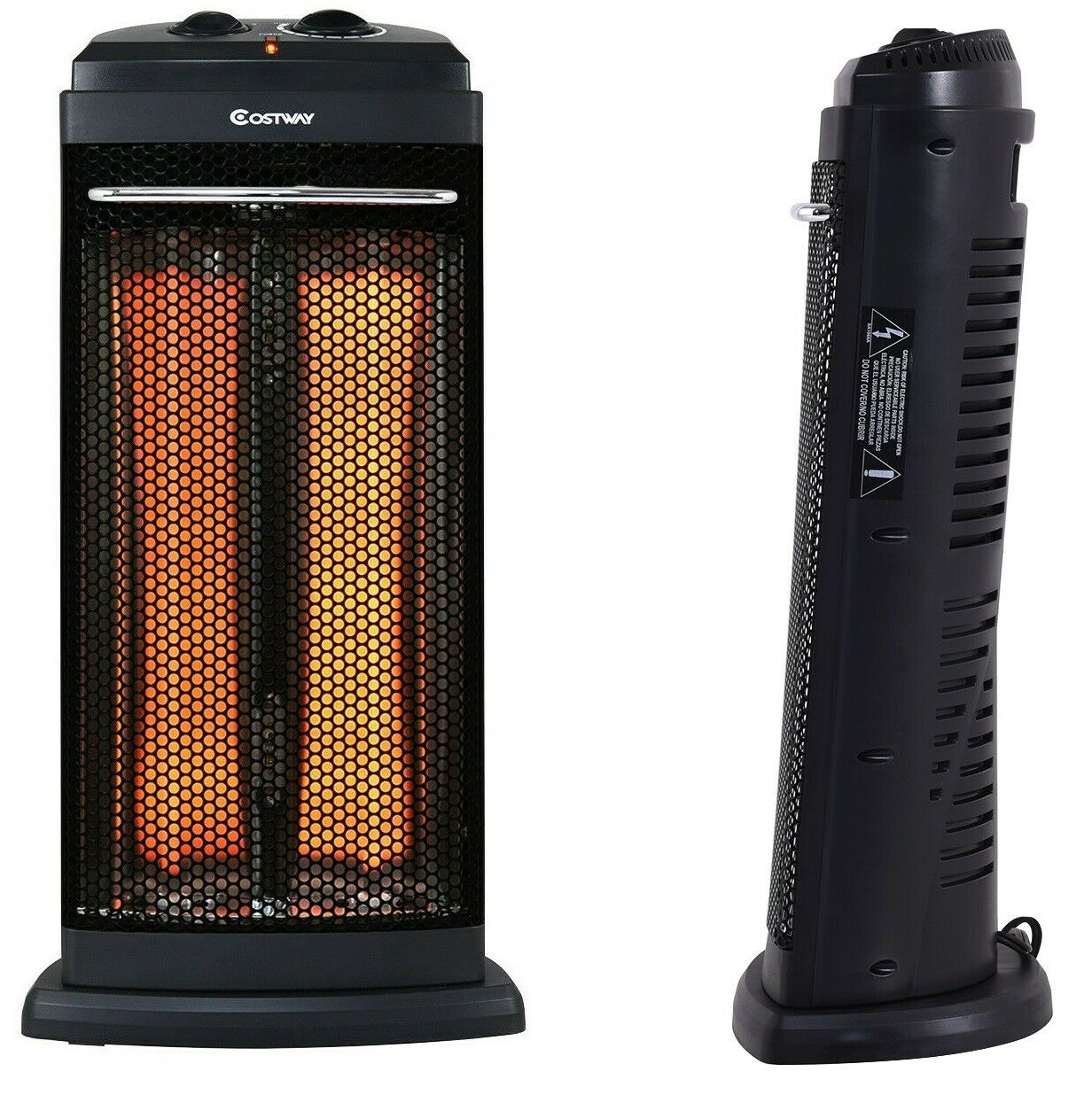 Portable Electric Infrared Space Heater Tower Indoor Quartz