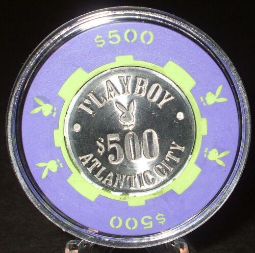 (1) $500. PLAYBOY CASINO CHIP - 1981 - ATLANTIC CITY, New Jersey - Bud Jones