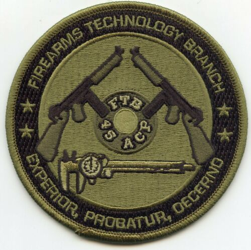 ATF FIREARMS TECHNOLOGY BRANCH Martinsburg WEST VIRGINIA Green POLICE PATCH