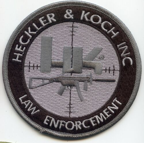 H&K FIREARMS LAW ENFORCE VIRGINIA GEORGIA GERMANY subdued gray POLICE PATCH