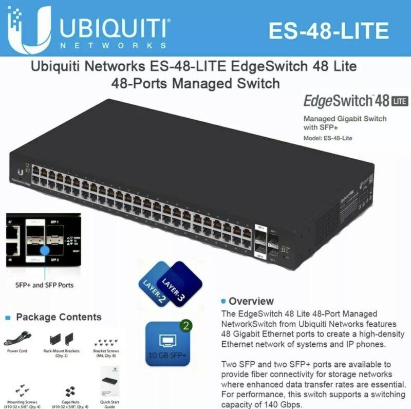 Ubiquiti ES-48-Lite EdgeSwitch Managed Gigabit Switch 48xGbit Ports 2xSFP 2xSFP+