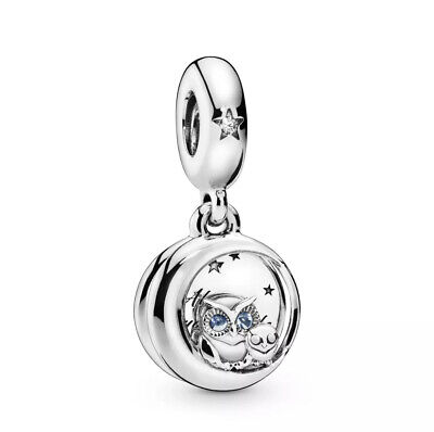Authentic Pandora Always By Your Side Owl Dangle Silver Charm 798398ALH