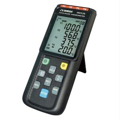 Omega Hh520 Thermometer Four-channel Jkte Thermocouple Data Logger W Usb New