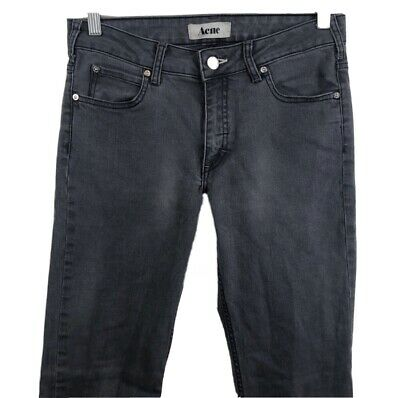 Acne Jeans Storlek Gray Slim Fit Stretch Denim 29 x 29.5