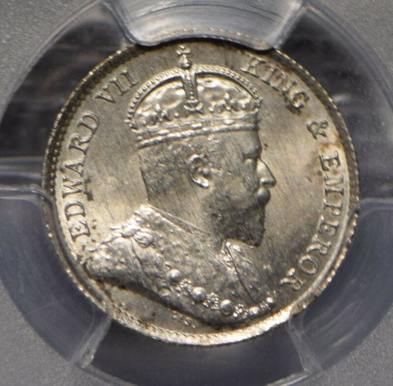 Hong Kong 1904 5 Cents PCGS UNC PC0716 combine shipping