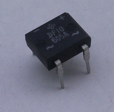 10 Pcs Bridge Rectifier 1a 1000v 4-dip Part Df06 605a