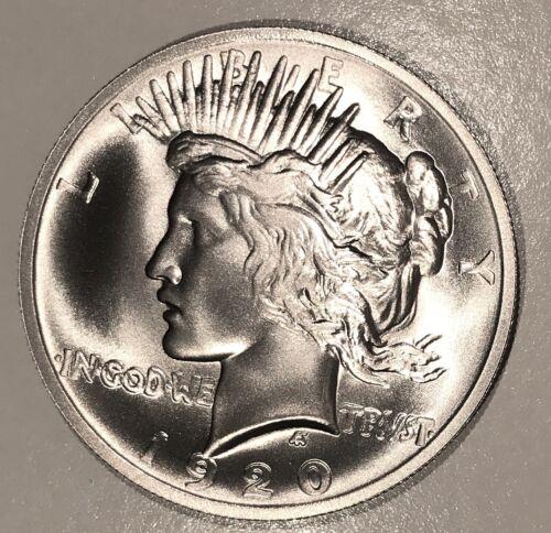 1920 Peace Dollar Hi-Relief Overstrike Broken Sword Hi-Grade Finish Dan Carr  /5