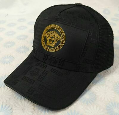 Black Versace Mens Women Baseball Cap Cotton Snapback Hat - Size Medium