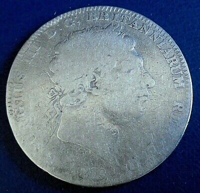 1819 King George III Crown, LIX edge year, .925 silver - quite low grade, scuffs