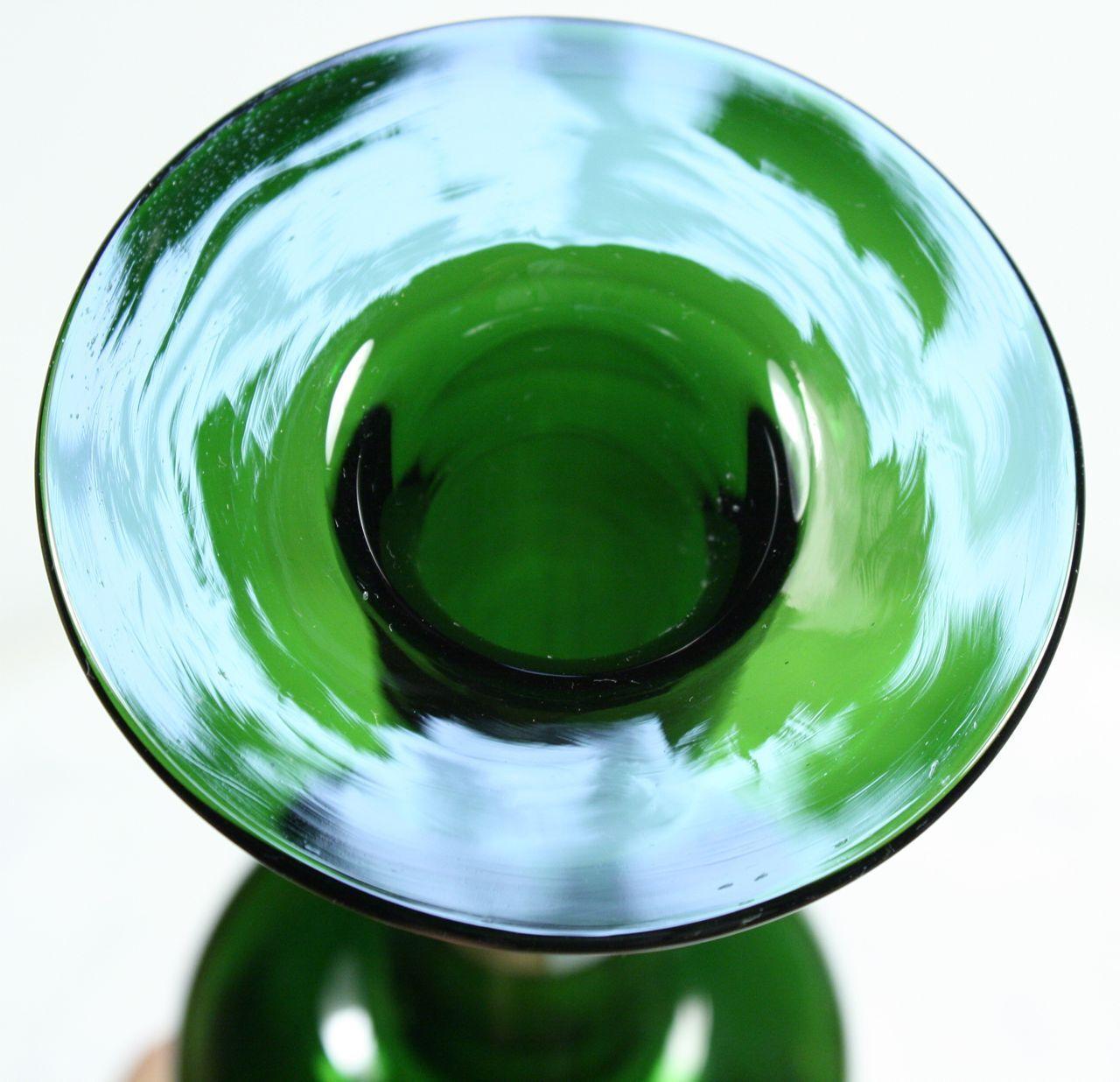 tall vintage modern holmegaard bottle vase gulvvase by. Black Bedroom Furniture Sets. Home Design Ideas