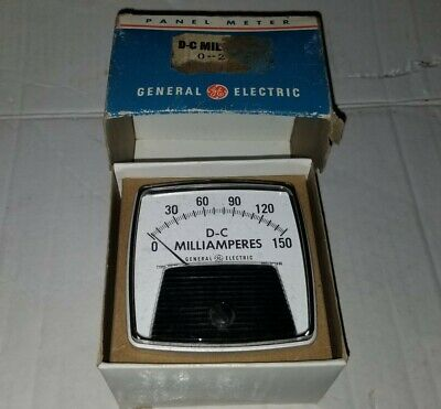 Ge General Electric Type Aw-91 Ac Volts Retro Panel Meter Steampunk
