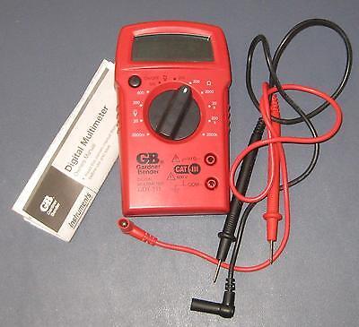 Digital Mutimeter Gdt-311 Gardner Bender Works Fine Batteries Included