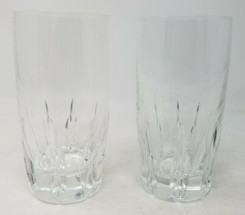 Lenox Firelight Clear Set of (2) Crystal Highball Tumbler Glasses