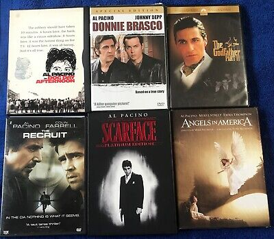 (6) Al Pacino DVD Lot Collection Angels In America Godfather Scarface & More+++