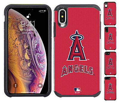 Official MLB ShockProof Hybrid Cover Case for Cell Phone - Los Angeles Angels  - Mlb Cell Phone Cover