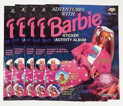 Lot of (5) 1994 Adventures With Barbie Sticker Activity Albums New ^ Unused