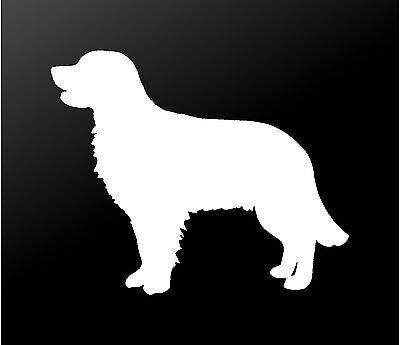 - Golden Retriever Vinyl Decal Car Window Laptop Dog Silhouette Sticker
