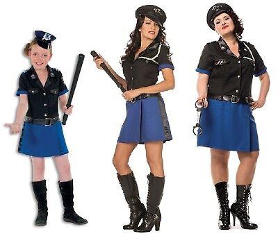 Polizist Sexy Polizistin Polizei Kostüm Kleid Uniform Damen Kinder Mädchen FBI