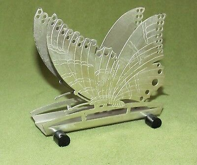 Art Deco Serviettenhalter -Schmetterling- versilb.