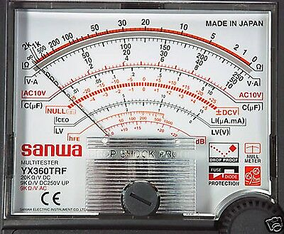 Sanwa Yx-360trf Linear Analog Multimeter Tester Yx360trf New