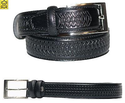 Herren Leder Gürtel 105 cm Schwarz