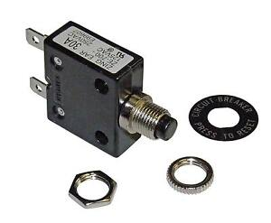 Philmore 30 Amp Push Button Circuit Breaker 32V DC or 250V AC, Fuse
