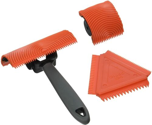 Allway GT3 Graining Tool Set Triangle Graining Comb 3Pc