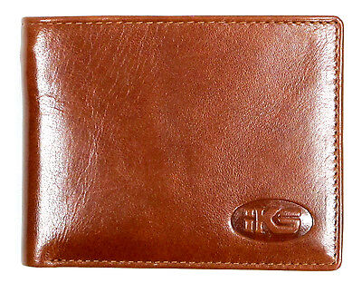 High Quality Italian Leather Men's Wallet Bi-fold, Trifold Black, Brown, Cognac (Quality Italian)
