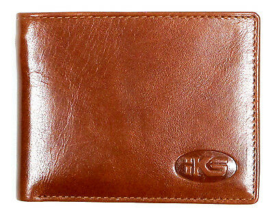 High Quality Italian Leather Men's Wallet Bi-fold, Trifold Black, Brown, Cognac  ()