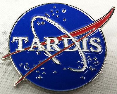 The TARDIS and NASA Space Program Logos - Doctor Who TV Series Enamel Pin
