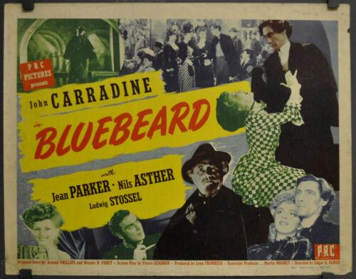 BLUEBEARD 1944 ORIGINAL 22X28 MOVIE POSTER JOHN CARRIDINE JEAN PARKER
