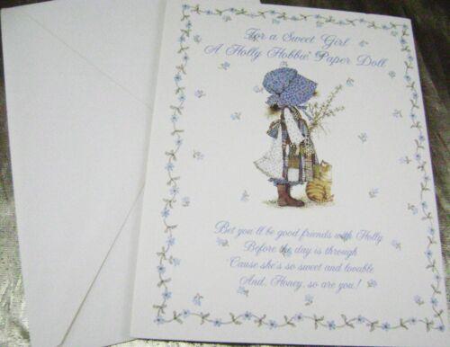 VTG PAPER DOLL GREETING CARD 1972 HOLLY HOBBIE ORIGINAL ENVELOPE ULTRA RARE!!!